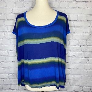 Splendid Striped Tie Dye / Watercolor Tee